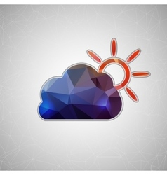 Creative concept icon of cloud and sun for vector
