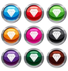 diamond set 9 collection vector image
