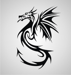 Dragon Tribal vector image