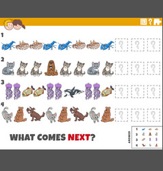 educational pattern game for children with comic vector image