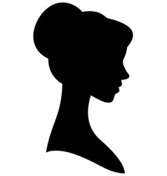 female silhouette portrait in profile vector image