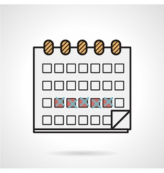 Flat icon for menstrual calendar vector image