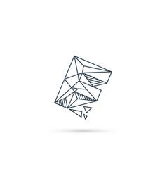 Gemstone letter f logo design icon template vector