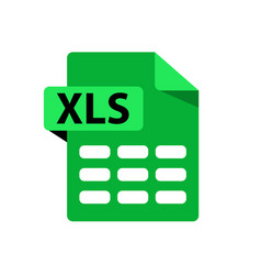 Green icon xls file format extensions icon vector