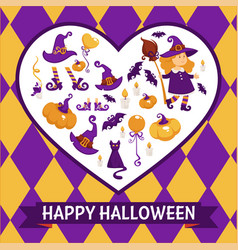 halloween background poster frame vector image