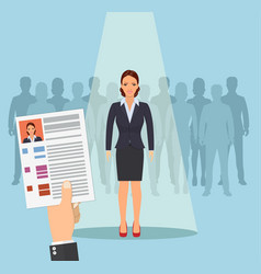 hands hold cv profile vector image