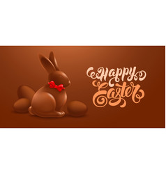 Happy easter festive greeting card design vector