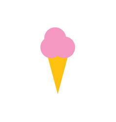 ice cream cone icon graphic design template vector image