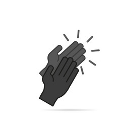 Icon clapping hands in a flat style vector