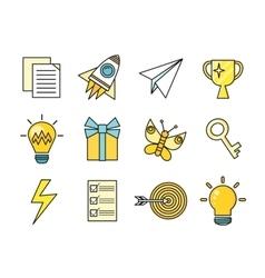 Idea Generation Icon Set vector image