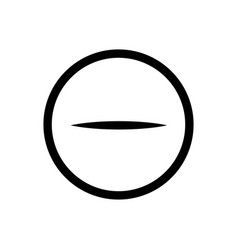 minus in circle sign icon outline icon on white vector image