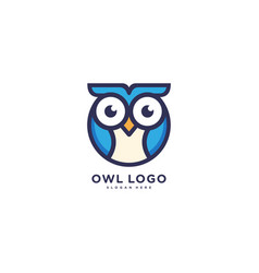 owl logo from lines sign bird icon for business vector image