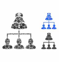 patients nurse hierarchy composition icon of vector image