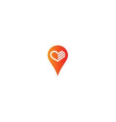 pin mark sign logo vector image
