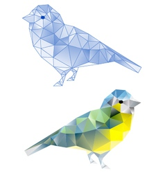 Polybirdbirds with geometric pattern vector