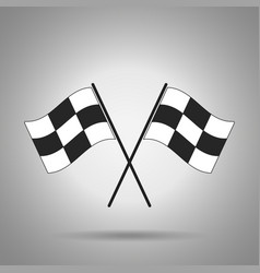 Racing flag icon vector