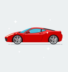 red sport car isolated on white background vector image
