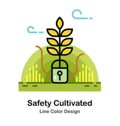 Safety cultivated line color icon vector