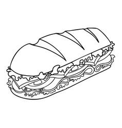 sandwich design element for poster card banner vector image