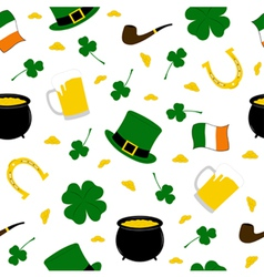 Seamless saint patricks background vector