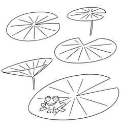 set of lotus vector image