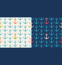 set patterns with anchor vector image