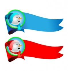 snowman banner vector image vector image