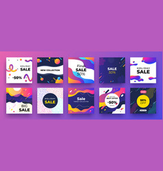 square social media banner fashion sale design vector image