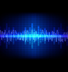 square sound waves technology background vector image