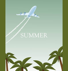 summer airplane poster vector image