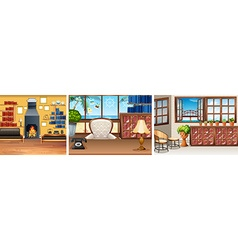 Three rooms in the house vector image