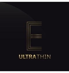 Ultrathin E Letter vector