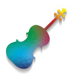 violin sign colorful icon vector image