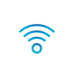 wifi simple icon wireless internet icon isolated vector image
