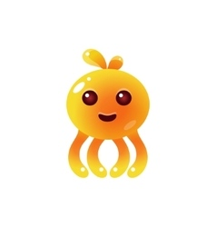 Yellow Balloon Octopus Character vector