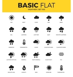 Basic set of weather bonus icons vector image vector image