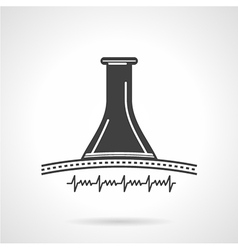 Black icon for obstetrics stethoscope vector image vector image