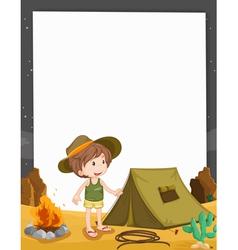 Camping Border vector image vector image