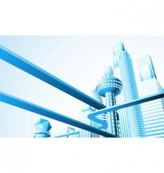 futuristic cityscape vector image vector image