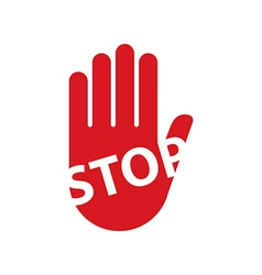Hand sign stop vector image