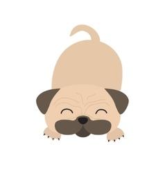 Pug dog mops Cute cartoon character Flat design vector image vector image