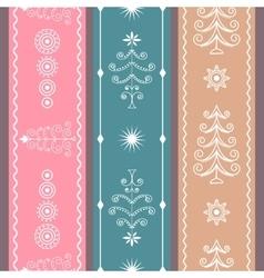 Set Christmas Ribbons vector image