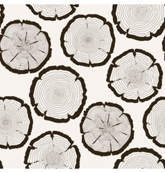 tree rings cut trunk seamless pattern vector image