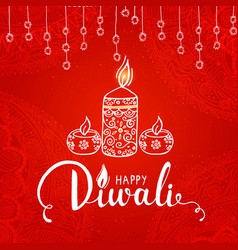 elegant card design of traditional indian festival vector image vector image