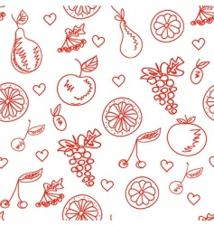 fruit sketchy healthy seamless pattern vector image