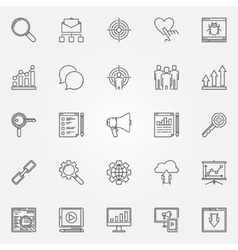 Internet marketing icons set vector image