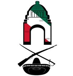 mexico revolution day vector image
