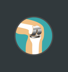symbol of knee replacement knee replacement logo vector image