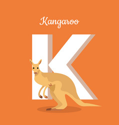 animals alphabet letter - k vector image