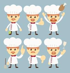 chef character set cartoon vector image